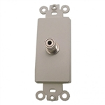 Calrad 28-159<br>3.5mm Feedthru Jack - White insert