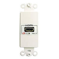 Calrad 28-166-LP<br>HDMI to HDMI Single Feed-Thru Decora Low-Profile Wall Plate<br>replaces Calrad 28-166