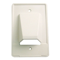 Cable Distribution Wall Plate, Scoop Style, Single Gang | Calrad Electronics 28-CER1