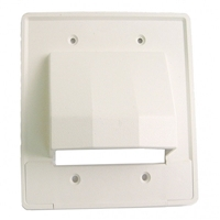 Cable Distribution Wall Plate, Scoop Style, Dual Gang | Calrad Electronics 28-CER2