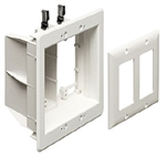 Calrad 28-TVBU505 Recessed Two Gang Combo Box