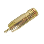 Calrad 30-298G-Color Gold Plated Solderless RCA Plug for 8mm Cable.
