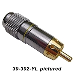 Calrad 30-302-Color Gold RCA Connector 8mm w/Colored Band