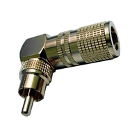 Calrad 30-305 Right Angle RCA Plug Short Version