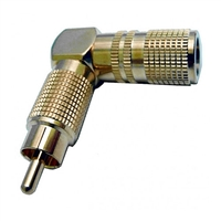 Calrad 30-306 Right Angle RCA Plug Long Version