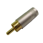 Calrad 30-308 Pro RCA Plug Solid Pin Nickel Barrel