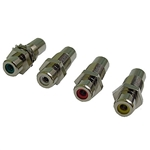 "Calrad 30-410-3/8-Color RCA to RCA Feedthru Jack 3/8"" Version Insert"