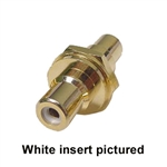 "Calrad 30-410G-Select Color RCA to RCA Feedthru Jack 1/2"" Version Gold Insert"