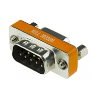 Null Modem Adapter, 9 pin, Male to Female RS-232 | 30-582-NULL Calrad Electronics