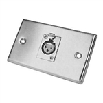 Calrad 30-595 Single XLR Female Steel Plate