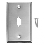 Calrad 30-597<br>Stainless Steel wallplate with HD-DB15 Cutout