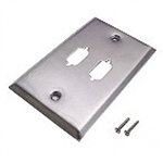 Calrad 30-597-2<br>Dual Cutout 15 pin high density wallplate