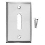Calrad 30-599<br>Stainless Steel wallplate with 25 Pin 'D' Cutout