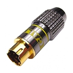 Calrad 30-608 Pro quality SVHS 4 pin connector for 8mm cable.