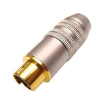 Calrad 30-611 Pro quality SVHS 4-pin connector w/ metalic silver barrel for 8mm cable