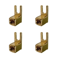 Calrad 30-612 Gold Terminals Speakers Terminals with hex set-screw.