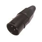 Calrad 30-630-BK-3 3 Pin XLR Male Black Hex Back