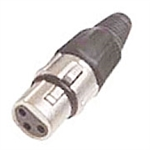 Calrad 30-631-SL-3 3 Pin XLR Female Silver Hex Back