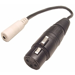 Calrad 35-466 3.5mm Stereo Female to XLR Female