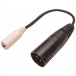 Calrad 35-468 3.5mm Stereo Female to XLR Male Adapter