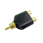"Calrad 35-504G RCA ""Y"" Plug to 2 RCA Jacks Gold"