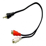 Calrad 35-525 RCA Plug to 2 RCA Jacks