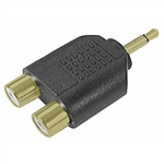 Calrad 35-585G Gold Dual RCA Jacks to 3.5mm Mono Plug