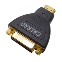 Calrad 35-712A HDMI Male to DVI-D Female Adapter with Gold plated contacts.