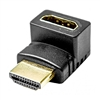 Calrad 35-714 HDMI Female to Male right angle adapter. Up 90° Gold contacts.