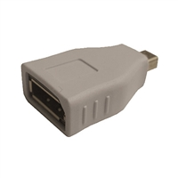 Mini DisplayPort Male Plug to Display Port Female Jack Adapter | 35-736 Calrad Electronics