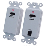 Calrad 40-1073<br>HDMI over 2 Cat5e/Cat6 Cables Active Decora Wallplate Balun