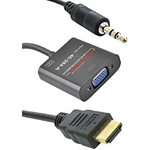 Calrad 40-284A HDMI to VGA Video & Audio Converter Cable
