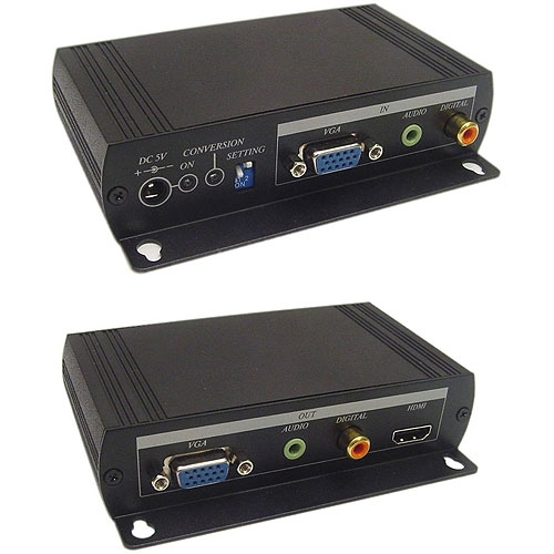 Adapter Calrad 40-40VH02 VGA Video and 3.5mm Stereo Audio to HDMI Converter