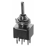 Calrad 40-523 Toggle Switch, DPDT, On-Off-On, PC Mt.