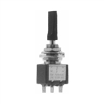 Calrad 40-581 Miniature Flat Toggle Switch, SPDT Momentary On-(On)