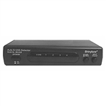 Calrad 40-803 SVHS Video & Stereo Audio Automatic Switcher 4 Inputs - 2 Outputs