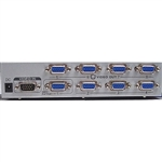 Calrad 40-828-200 SVGA/HDTV Distribution Amplifier 200Mhz for computer (1 in 8 out)