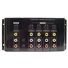 Calrad 40-936B<br>1 X 4 AV Distribution Amplifier for S-Video, Composite Video and Stereo Audio