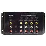 Calrad 40-936B 1 X 4 AV Distribution Amplifier for S-Video, Composite Video and Stereo Audio