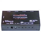 Calrad 40-999-HS HDMI 4K Switcher, 4 x 1 with IR and Manual Switch