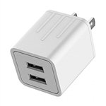 Calrad 42-AC-4 Two USB Ports 5V 2.1A AC / DC Power Adapter for iPad + iPhone + iPod, White