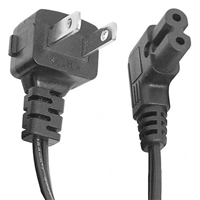 AC Power Cord, Right Angle, Round 2 Conductor, 10 Ft. long, (UL) | 45-822RT-10 Calrad Electronics