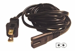 Calrad 45-824 Square/Round end Polarized 6 ft. AC Power Cord