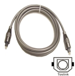 Calrad Electronics 55-504-3 Spring Loaded Toslink Fiber-Optic Cable 3 meters