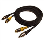 Calrad Electronics 55-508-2 6mm Molded SVHS and 5mm Toslink Fiber-Optic Cable 2 meters