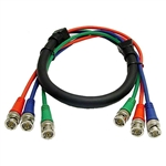 Calrad 55-610-100 3 BNC males to 3 BNC males 100 ft. Shielded RGB Video Cable