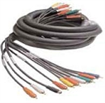 Calrad Electronics 55-616-25 Low Loss Multi-Conductor Shielded Coax Audio Video Cable 25 ft.