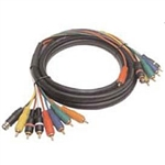 Calrad Electronics 55-617-9 Low Loss Multi-Conductor Shielded Coax Audio Video Cable 9ft.