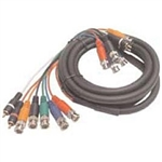 Calrad Electronics 55-618-12 Low Loss Multi-Conductor Shielded Coax Audio Video Cable. Supports Standard Definition & HDTV