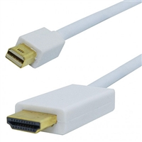 Mini DisplayPort to HDMI Video Cable, Male Mini to Type A, 3 ft. Long | 55-649-3 Calrad Electronics